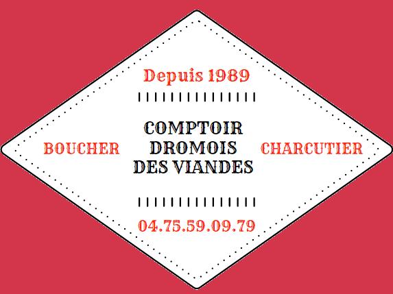 logo rouge comptoir drômois des viandes
